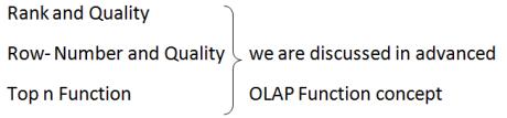 OLAP function
